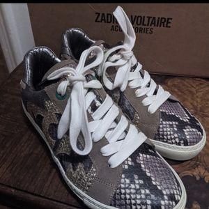 Zadig & Voltaire snake skin sneakers